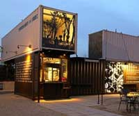 Recycled Shipping Container Cafe